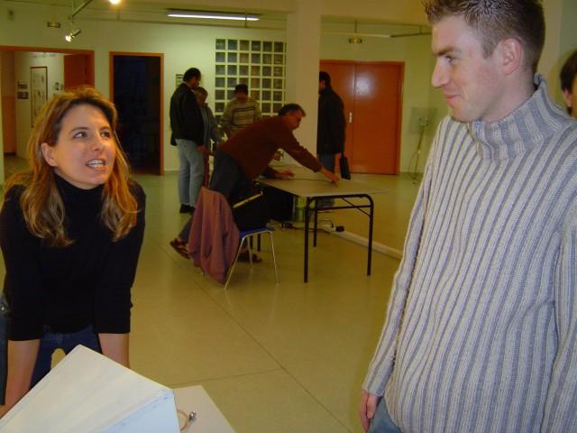 Solenn et Mathieu, pendant que les autres rammassent